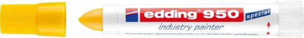 Marker industry painter E-950 10mm žuta Edding