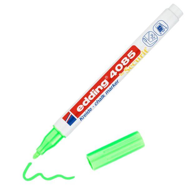 Marker za staklo CHALK MARKER E-4085 1-2mm neon zelena Edding