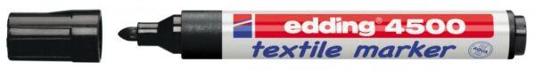 Vodootporni marker T-SHIRT E-4500 2-3mm crna Edding
