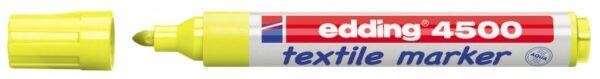 Vodootporni marker T-SHIRT E-4500 2-3mm limun žuta Edding