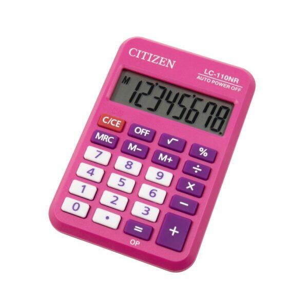 Kalkulator Citizen LC-110N, kolor, 8 cifara  roze