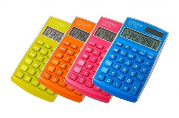Stoni kalkulator Citizen CPC-112 color line, 12 cifara plava