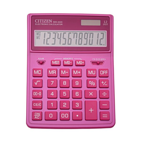 Stoni kalkulator CITIZEN SDC-444 color, 12 cifara roze