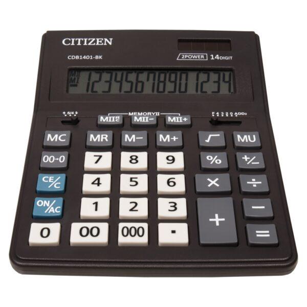 Stoni poslovni kalkulator Citizen CDB-1401-BK, 14 cifara