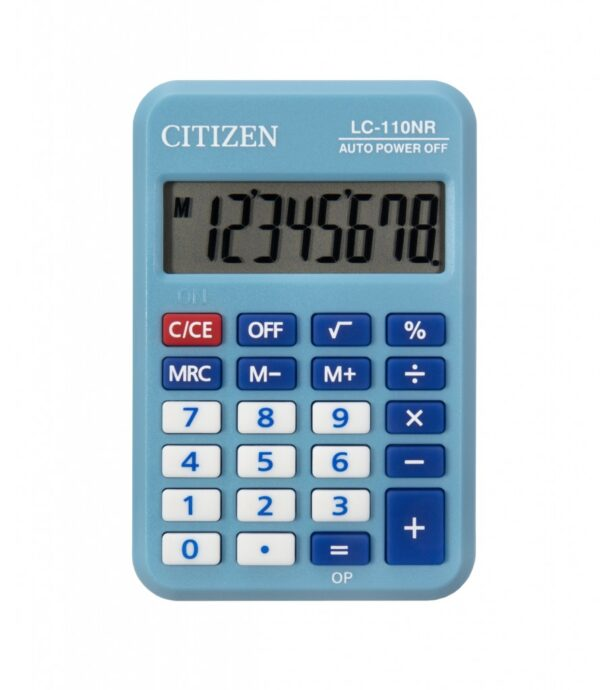 Kalkulator Citizen LC-110N, kolor, 8 cifara  plava