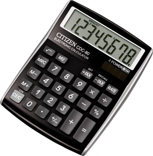 Stoni kalkulator Citizen CDC-80, 8 cifara crna