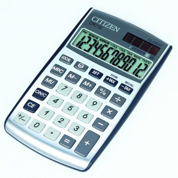 Stoni kalkulator Citizen CPC-112 C-series, 12 cifara srebrna