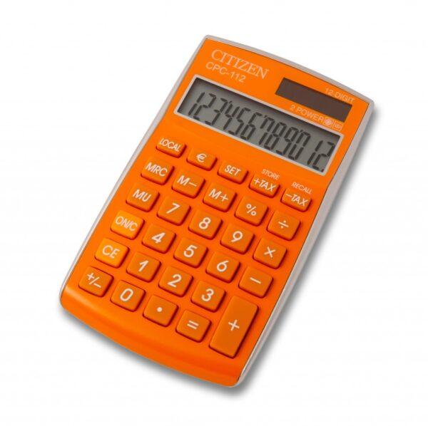 Stoni kalkulator Citizen CPC-112 color line, 12 cifara narandžasta