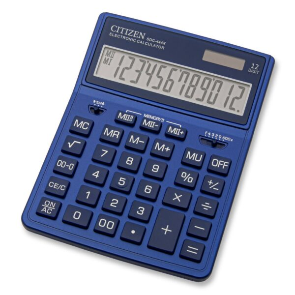 Stoni kalkulator CITIZEN SDC-444 color, 12 cifara plava