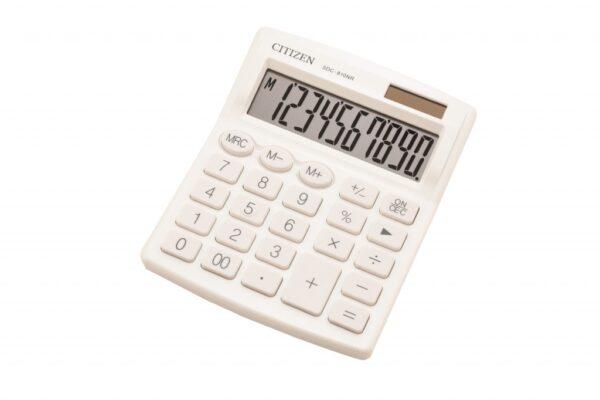Stoni kalkulator CITIZEN SDC-810 color , 10 cifara bela
