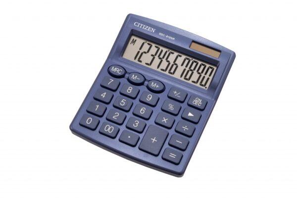 Stoni kalkulator CITIZEN SDC-810 color , 10 cifara plava