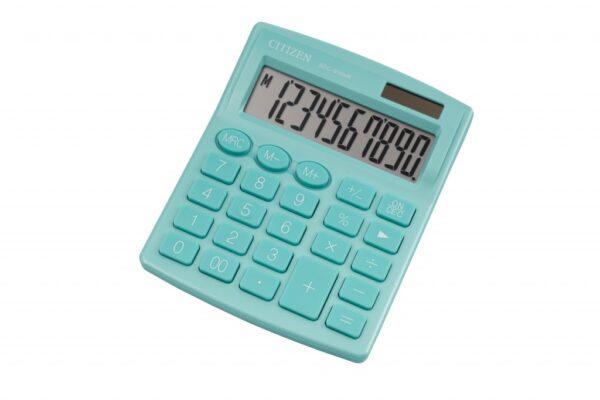 Stoni kalkulator CITIZEN SDC-810 color , 10 cifara zelena
