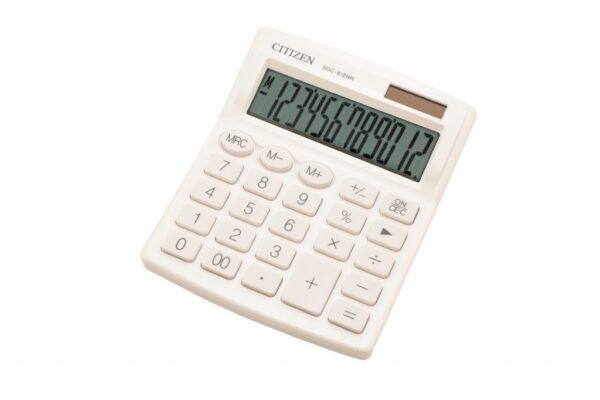 Stoni kalkulator CITIZEN SDC-812 color, 12 cifara bela