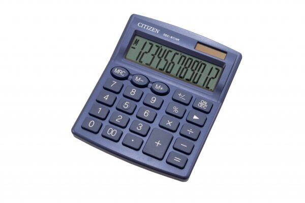 Stoni kalkulator CITIZEN SDC-812 color, 12 cifara plava