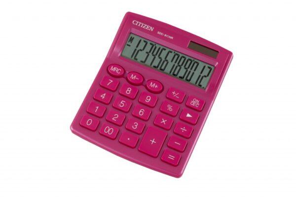 Stoni kalkulator CITIZEN SDC-812 color, 12 cifara roze