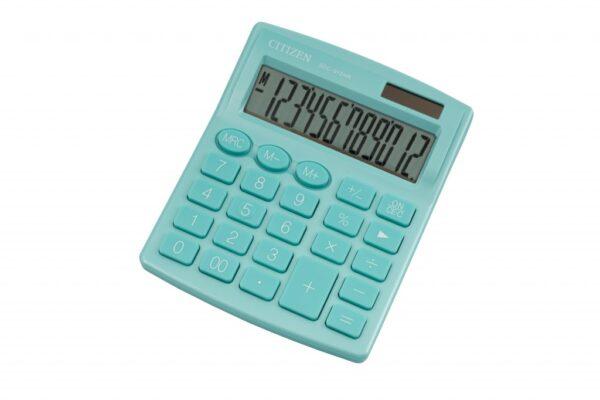 Stoni kalkulator CITIZEN SDC-812 color, 12 cifara zelena