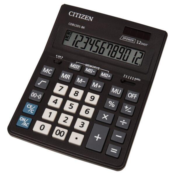 Stoni poslovni kalkulator Citizen CDB-1201-BK, 12 cifara