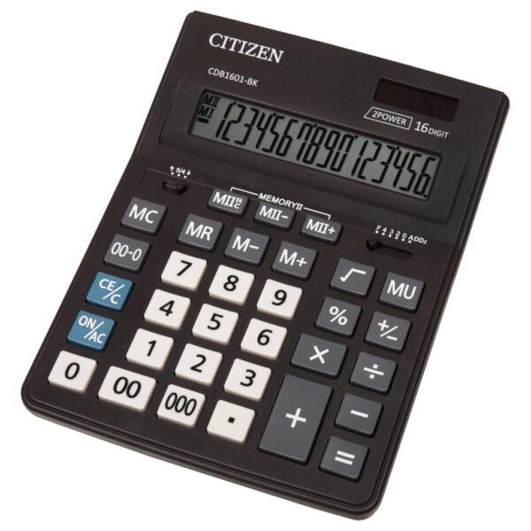 Stoni poslovni kalkulator Citizen CDB-1601-BK, 16 cifara