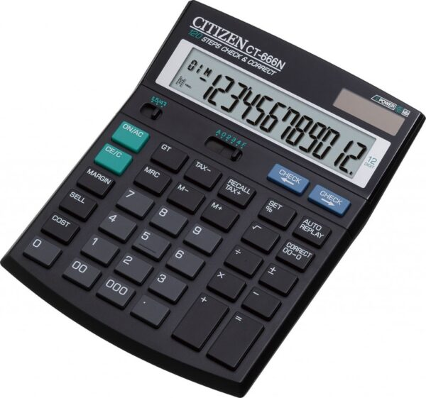 Stoni poslovni kalkulator Citizen CT-666N, 12 cifara